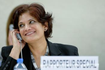 Relatora especial sobre las Formas Contemporáneas de Esclavitud Urmila Bhoola. Foto ONU/Jean-Marc Ferré (archivo)