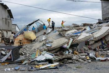 Un terremoto de 7,8 grados en la escala de Richter azotó la costa de Ecuador el 16 de abril. Foto: UNICEF Ecuador