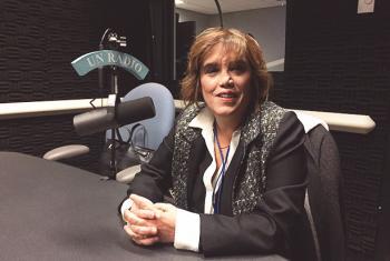 Fabiana Túñez, presidenta del Consejo Nacional de las Mujeres de Argentina, en los estudios de Radio ONU. Foto: Radio ONU
