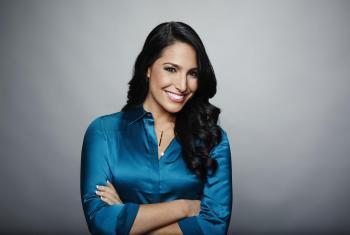 Alejandra Oraa es presentadora de CNN en Español y embajadora de buena voluntad de ONUSIDA para América Latina y el Caribe. Foto cortesía de CNN.