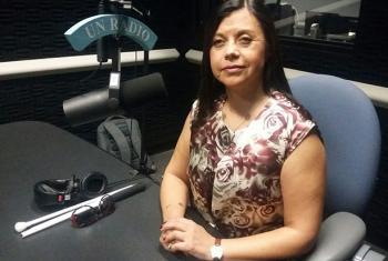 María Soledad Cisternas, enviada especial del Secretario General para cuestiones de discapacidad y accesibilidad  en los estudios de Radio ONU.