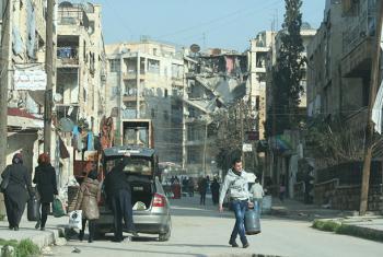 Edificios destruidos en el barrio de Salah Ed Din, en Alepo, Siria. Foto de archivo: OCHA/Josephine Guerrero