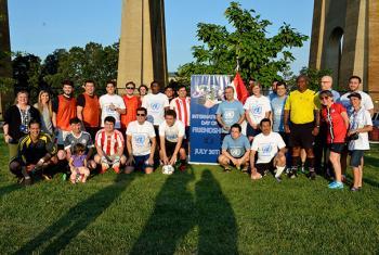 Equipos que participaron del partidos amistoso por el Día Internacional de la Amistad. Foto: Radio ONU/Rocío Franco