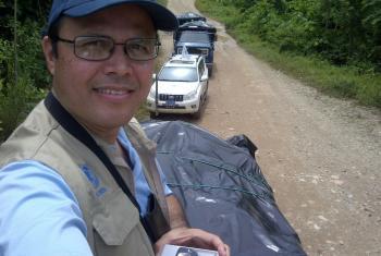 Lo más impactante para Elio Rujano, del PMA en Panamá, es presenciar cómo los desastres exponen a las personas a tanta fragilidad al perder lo poco que tenían. Foto: gentileza de Elio Rujano.
