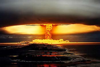 Ensayo nuclear en la Polinesia Francesa. Foto CTBTO
