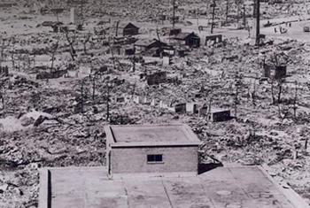Hiroshima después del bombardeo de 1945. Foto CTBTO