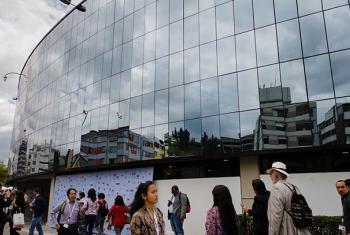 La Conferencia de Naciones Unidas sobre Vivienda y Desarrollo Urbano Sostenible, Hábitat III tiene como sede la Casa de la Cultura Ecuatoriana, en Quito. Foto: ONU Radio/Rocío Franco