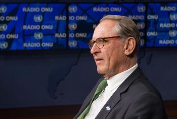 El vicesecretario General de la ONU Jan Eliasson durante una entrevista este 25 de octubre de 2016 Foto ONU/Eskinder Debebe