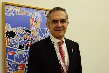 El jefe de Gobierno de la Ciudad de México, Miguel Ángel Mancera. Foto: ONU Radio/Rocío Franco