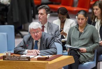 El jefe de las misiones de paz de la ONU, Hervé Ladsous ante el Consejo de Seguridad. Foto Archivo: ONU/JC McIlwaine