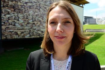 La experta de la OMS Nathalie Roebbel, en la conferencia Hábitat III. Foto: Radio ONU/Rocío Franco