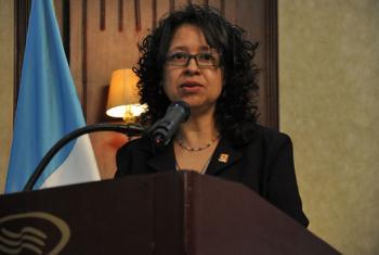 Ada Zambrano directora nacional y representante de país de CARE Internacional en Guatemala. Foto: Agenda Estratégica Interinstitucional.