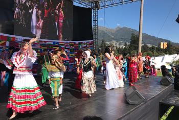 Evento cultural en la conferencia de la ONU Hábitat III, que se celebra en Quito. Foto: Antonio Lafuente