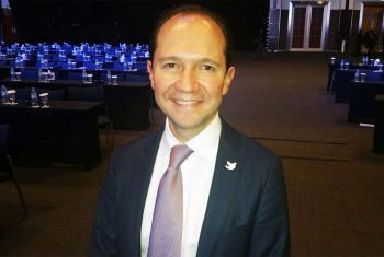 Alejandro Gamboa Director General de la Agencia Presidencial de Cooperación Internacional de Colombia. Foto Radio ONU/Ben Malor.
