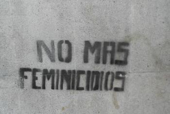 Graffitti contra los feminicidios. Foto: cortesía ONU Mujeres/Denis Bocquet.