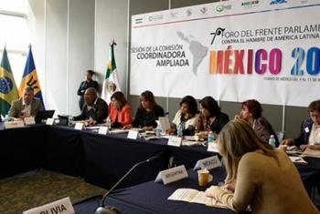 7º Frente Parlamentario contra el Hambre sesionando en Ciudad de México. Foto: FAO