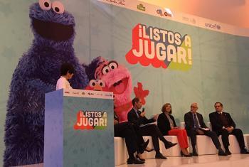"""Lanzamiento de la iniciativa """"¡Listos a Jugar!"""" en Ciudad de México. Foto: CINU México/Pierre René"""