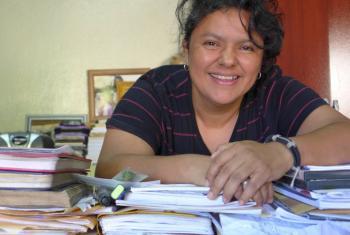 La ecologista Berta Cáceres, conocida activista de Honduras, fue asesinada en marzo de 2016.
