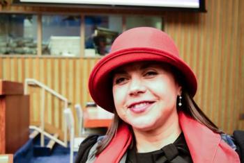 María Soledad es una abogada chilena ciega especialista en este tema. Tiene larga trayectoria en la defensa de los derechos de esta población y ahora preside el Comité de la ONU que se ocupa de supervisar la aplicación de esta Convención. Foto: ONU/Rocio