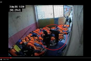 Captura de pantalla del video que menciona el presidente del Comité de la ONU contra la Tortura, Jens Modvig, sobre presuntos abusos cometidos en el Centro Regional Sierra Sur Turi, en Cuenca, el 31 de mayo de 2016.