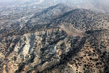 Foto aérea de Pakistán. Foto de archivo: ONU/Fardin Waezi.