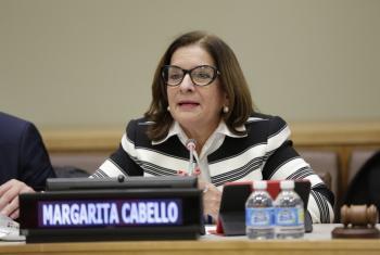 Margarita Cabello, presidenta de la Corte Suprema de Justicia de Colombia, participó de un evento especial celebrado en la sede de la ONU en Nueva York, invitada por ONU Mujeres, para explicar el caso de Colombia y cómo este país trabaja para mejorar el a