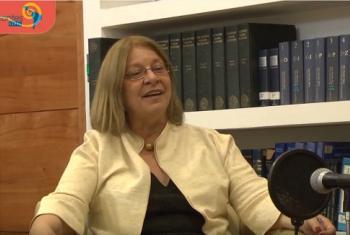 """María Nieves Rico, en su entrevista con """"Horizontes CEPAL"""", programa multimedia de este organismo. Foto: CEPAL"""