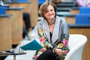 La Jefa del Departamento de Información Pública (DPI) de Naciones Unidas, Cristina Gallach. Foto: ONU/Daniel Johnson
