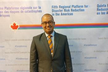 Jair Torres, Oficial de Proyecto en la unidad de reducción de riesgos de desastres y la resiliencia de la Organización de las Naciones Unidas para la Educación, la Ciencia y la Cultura (UNESCO). Foto: Jordi Trujols