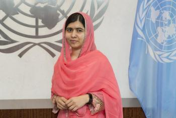 Malala Yousafzai, nueva Mensajera de la Paz de Naciones Unidas. El es la más jóven en la historia en recibir el nombramiento Foto: ONU/Eskinder Debebe
