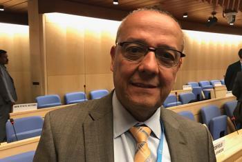 El doctor Marcos Espinal, director de Enfermedades Transmisibles de la OPS, durante la Reunión Mundial de Asociados sobre Enfermedades Tropicales Desatendidas que se celebra Ginebra. Foto: ONU/Eleuterio Guevane.
