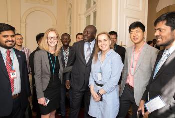 Jóvenes participantes en la Conferencia 2017 de Ciencias y Tecnologías, que se celebra esta semana en Viena, Austria. Foto: CTBTO