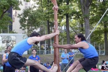 Demostración de Yoga en la sede de la ONU en Nueva York. Foto:ONU