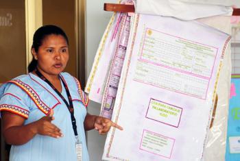 La asistente intercultural, Eira Carrera. Foto: UNFPA America Latina