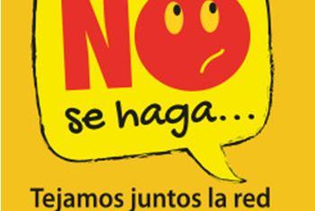 Cartel de la campaña contra la trata de personas impulsada por la Organización Internacional para las Migraciones y el Gobierno de Colombia.