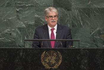 El ministro de Exteriores de España, Alfonso Dastis, interviene ante la Asamblea General. Foto: ONU / Cia Pak