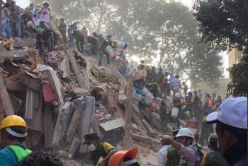 Tareas de rescate en la Ciudad de México tras el terremoto del 19 de septiembre. Foto: Secretaría de la Defensa Nacional de México.