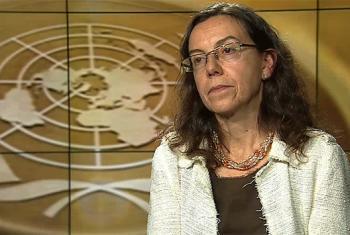 La asesora especial de políticas del Secretario General, Ana María Menéndez, durante la entrevista con Noticias ONU. Captura de video/UNTV.