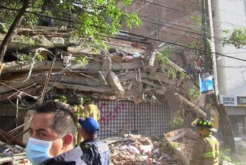 Desperfectos causados por los terremotos en México. Foto: Luis Arroyo/CINU Mexico