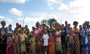Des déplacés congolais fuyant les violences dans la province du Tanganyika, en mai 2017