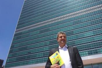"""Thierry Kranzer, Attaché de presse de l'ONU et auteur du livre """"Langue régionales au bord du gouffre"""". Photo © Jacques Baudrier"""