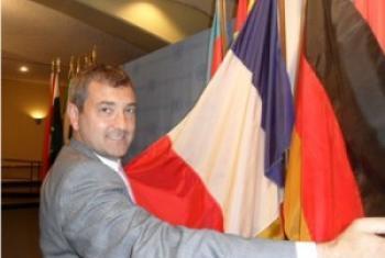 """Thierry Kranzer, Attaché de presse de l'ONU et auteur du livre """"Langue régionales au bord du gouffre"""". Photo © K.Kranzer"""