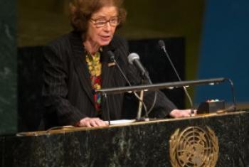 Beate Klarsfeld, Ambassadrice honoraire et envoyée spéciale de l'UNESCO pour l'enseignement de l'histoire de l'Holocauste et la prévention du génocide.