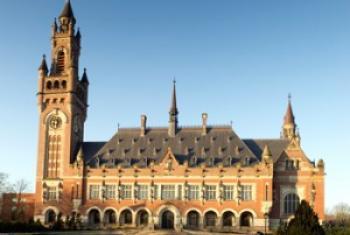 Le Palais de la paix, siege de la CIJ à La Haye, au Pays-Bas.