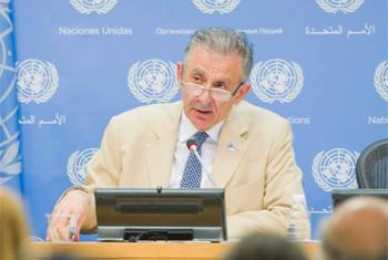 Jean Paul Laborde lors d'un point de presse à l'ONU ce vendredi. (