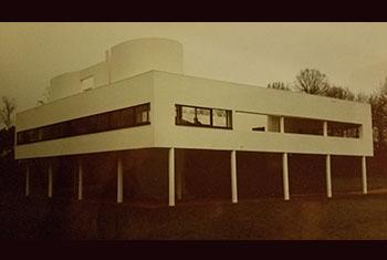 Villa Savoye, Poissy, France, maison construite par Le Corbusier.