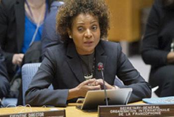 Michaëlle Jean, Secrétaire générale de l'Organisation internationale de la Francophonie, OIF. Photo : ONU/Rick Bajornas