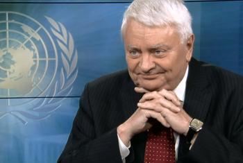 Hervé Ladsous lors de sa dernière interview avec ONU Info.