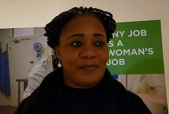Georgette Zamblé, Représentante du Groupe consultatif de la société civile de la Côte d'Ivoire affilié à ONU Femmes.