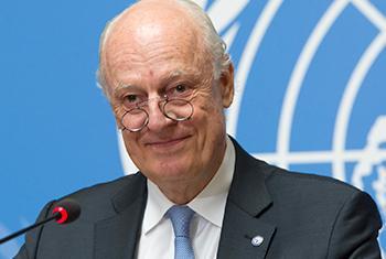 L'Envoyé spécial des Nations Unies pour la Syrie, Staffan de Mistura.